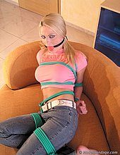 jeans tied gagged
