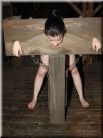 stocks tied girl